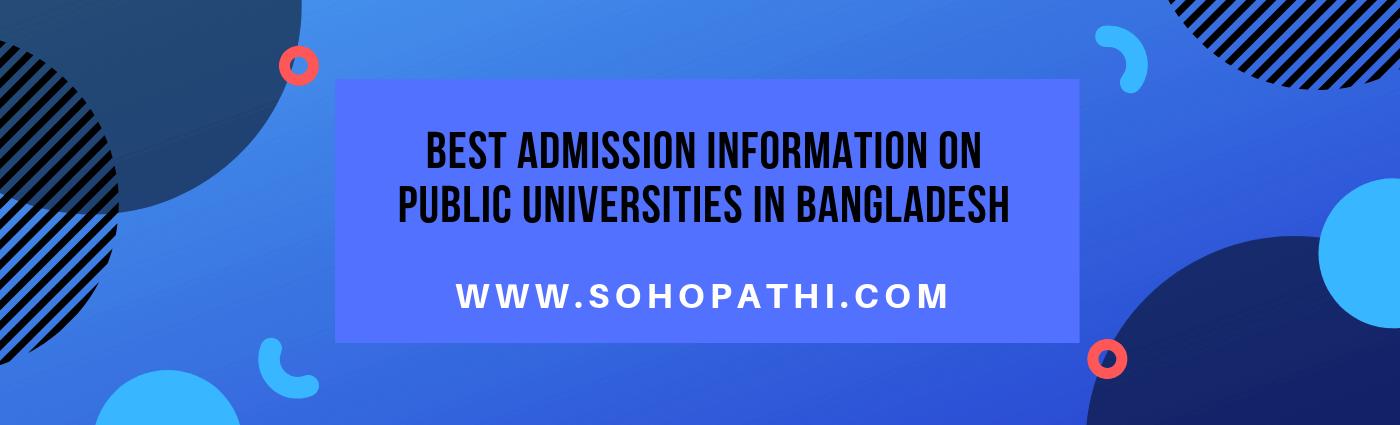 Public University in Bangladesh Best admission information